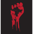 grunge fist vector image