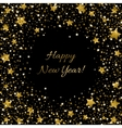 Happy New Year Card Ssparkle sequin tinsel bling vector image vector image