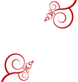 hearts on white background vector image