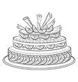 holiday pie contour vector image vector image