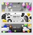 horizontal banners set gold glitter fluid shapes vector image vector image