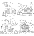 House line icon landscapes vector image vector image