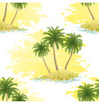 island with palms seamless vector image