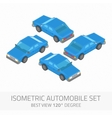 Isometric automobile set vector image