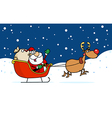 Kris Kringle In His Sleigh In The Snow vector image