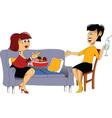 Meeting friends cartoon vector image