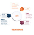 modern infographic chart template vector image vector image