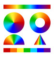 multicolor conical gradient vector image vector image