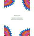 Multicolored floral page corner design template vector image vector image