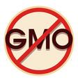 no gmo icon cartoon style vector image vector image
