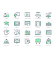 online education line icons vector image vector image