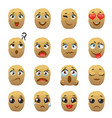 potato emoji emoticon expression vector image
