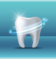 protective vortex around tooth whitening human vector image vector image