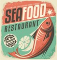 Seafood restaurant vector image vector image