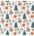 seamless Christmas patternsticker vector image