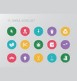 set of 15 editable agriculture icons includes vector image