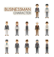 Set of businessman costume characters eps10 vect vector image vector image