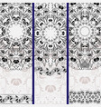 set of vertical banners with ethnic floral mandala vector image vector image