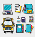 set school tools design to study and learn vector image vector image
