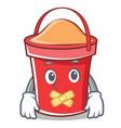 silent bucket character cartoon style vector image vector image