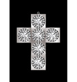 silver crucifix pendant encrusted with diamonds an vector image