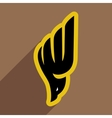 soaring eagle logo vector image vector image