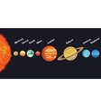 solar system showing planet vector image