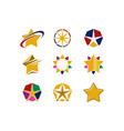 star logo collection vector image vector image