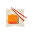 Sushi with Salmon and Sticks Served Food vector image vector image