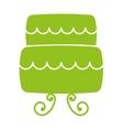 sweet cake isolated icon vector image