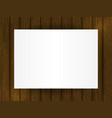 template for your design blank on wooden vector image
