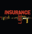The comparison of term life insurance with whole vector image