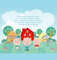 three little pigs vector image vector image