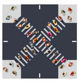 top view from above intersection street vector image