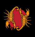 traditional scorpion tattoo flash vector image vector image