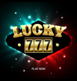 triple lucky sevens slot machine casino jackpot vector image vector image