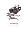 vr glasses with controllers interactive vector image