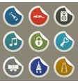 Wedding simply icons vector image vector image