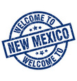 welcome to new mexico blue stamp vector image vector image