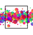 white background with colour bubbles vector image vector image