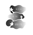women with cloud hair vector image vector image