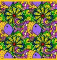 yellow black and gray fish seamless pattern bfnvha vector image