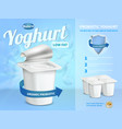 yoghurt advertising composition vector image vector image