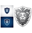 Lion on a Shield vector image