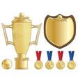 football trophy vector image