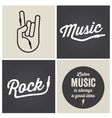 music type font music type font vector image