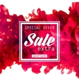 Special offer for sale temlate with watercolor vector image