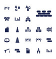 22 block icons vector image vector image
