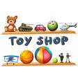 A toy shop vector image vector image
