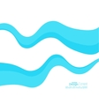 Abstract background with blue waves vector image vector image